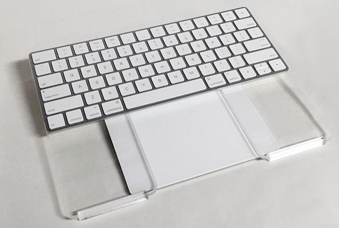 Apple Magic Trackpad And Wireless Keyboard Piece Them Together